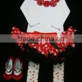Children lovely long sleeve top with pettiskirt in set for girl