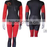 Spearfishing equipment Two-pieces red wetsuit with hood