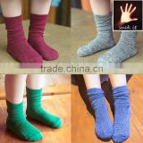 Children socks new solid piles of cotton special design solid color cute funny kids cotton six colors