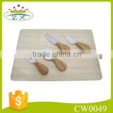 5pcs useful cheese knife set with bamboo cutting board