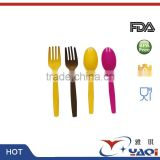 Disposable Plastic Icecream Spoon, Airplane Dinner Spoon, Cake Dessert Plastic Spoon & Fork