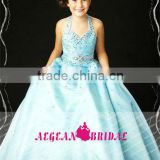 StyleMW0163 New Arrival Organza Crystal Little Queen Ball Gown Dress for Children