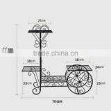 Garbagemall Wrought Iron Flower Basket Hanging Multilayer Landing Flower Shelf Living Room Balcony Plant Stands