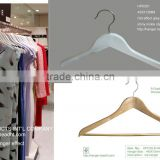HH brand shirt garment basic Suit Hangers white/natural color AB grade