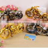 fashion home decor motorcycle table time alarm clock