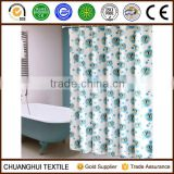 100% polyester cartoon fish pattern shower curtain for children