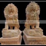 Carved Marble Lion Statues For Sale