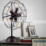 Five Lampholders Desk Lamp Fan Lamp Metal In Black Finish Living Room Bedroom Dining Room Table Lamp
