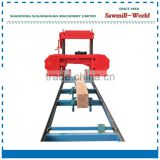 Portable wood cutting machine band saw sawmill machine