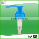 Blue Quality assurance custom clear plastic hand sanitizer dispenser aluminium lotion pump