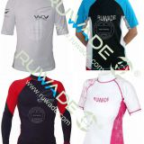 UV50+ Long and short sleeve lycra rash guard -1