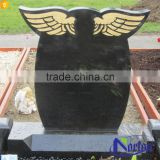 Cemetery used cheap china black granite monuments NTGT-441A