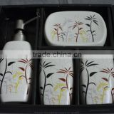 Ceramic elegant Bathroom Accessories Bath Set