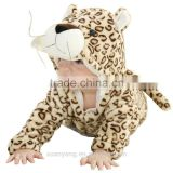 2017 new arrival Wholesale hot sale christmas tiger sleep wear eco-friendly baby clothes cheap kids set christmas pajamas family