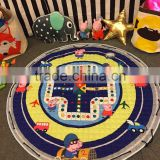 S65602A Kids Room Floor Carpet Round Game Mats Circular Flight Chess Baby Crawling Blanket