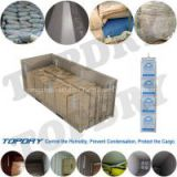 TOPDRY high performance container dessicant for controling humidity in containers