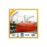 Hot Sale Solas Fiberglass Totally Enclosed Lifeboat with Gravity Type Davit System