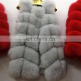 Eropean/American style real fur gilet high quality fox fur suits clothing