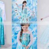 charming china wholesale frozen elsa costumes for girls elsa dress cosplay costume in frozen elsa cape costume FC2028
