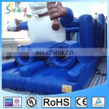 New Design 0.55 PVC Inflatable Racing Obstacle Course Game Inflatable Water Obstacle for Sale