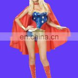Fancy women's deluxe red superhero cape