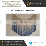 Antique Look Ombre Pattern Fancy Macrame Wall Hanging Decor