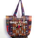 Banjara Mirror Work Tote Bags- Bohemian Banjara HandBags- Vintage Tribal Tote Bags- Embroidered SHOULDER BAG