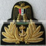 IRAQI Navy Officer Hat Cap Badge | New Hand Embroidered Hat Cap Badge | Bullion Wire Cap Badge