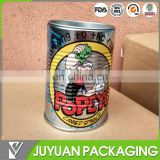 Cylinder barrel shaped tin coin bank with lid