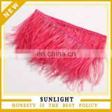 Fashion Wholesale Red Feather Trim Fringe Ostrich Feather Trim