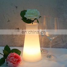 Factory waterproof light up illuminated led light flower vase led flower pot
