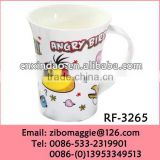 Kids Daily Used New Cartoon Designed Custom Made Personalized Oversized Ceramic Soup Mugs