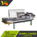 Cheap Fabric Sofa Cum Bed/ Metal Frame Futon Sofa