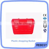 Reliable manufacturer plastic food basket with chromed handle