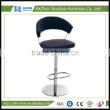 Modern swivel counter bar stools with armrest
