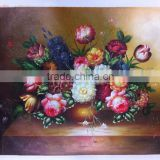 Dafen Wholesale Price Best Service Stock Available Classic Flower Oil Painting 60x90cm for Home Decoration