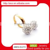 Best birthday gifts colour diamond dubai gold ball finger rings