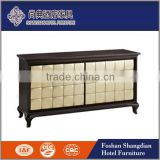hotel public furniture/lobby furniture/gold leaf decorative cabinet with multifunctions JD-ZSG-013