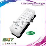 led light with 20 30 40 leds portable hanging rechargeable battery led emergency exit light
