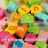 wooden beads toys educational toys shape bead