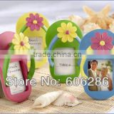 Beach them flip-flops shaped photo frame wedding favors home decoration