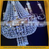 Arabic style antique brass k9 crystal chandelier