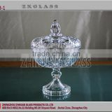 wholesale empty candy buffet glass jars;cookie sugar bowl;low price Transparent Glass with glass lid