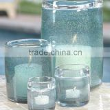 Decorative Bubble Glass Candle Jar