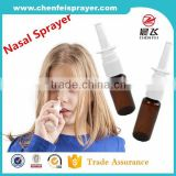 Best quality new style 20 410 nasal sprayer pump nose sprayer pump fine nasal sprayer in any color for promotion