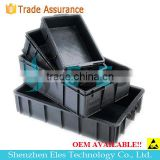Anti-static Bin Available w/wo Lid Cover ESD circulation Box conductive bin with low price