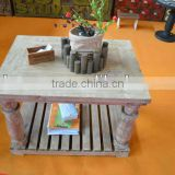 White Chinese wooden antique furniture tea table