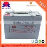 12V 55AH siliconen gel accu agm battery with long life way