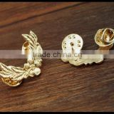 Gold leaf and flower Sweater clips Cardigan clips collar clips Gold sweater guard