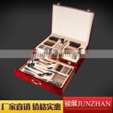 72pcs Metal cutlery sets with wire color box packing JUNZHAN Brand